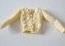 ...yellow knitted cardigan...
